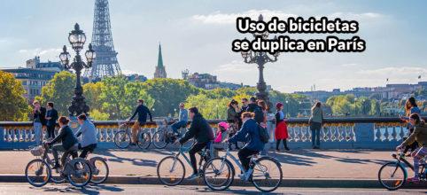 La paralización del transporte público incentivó el uso de bicicletas en París | Video http://ow.ly/KspB30qcit7