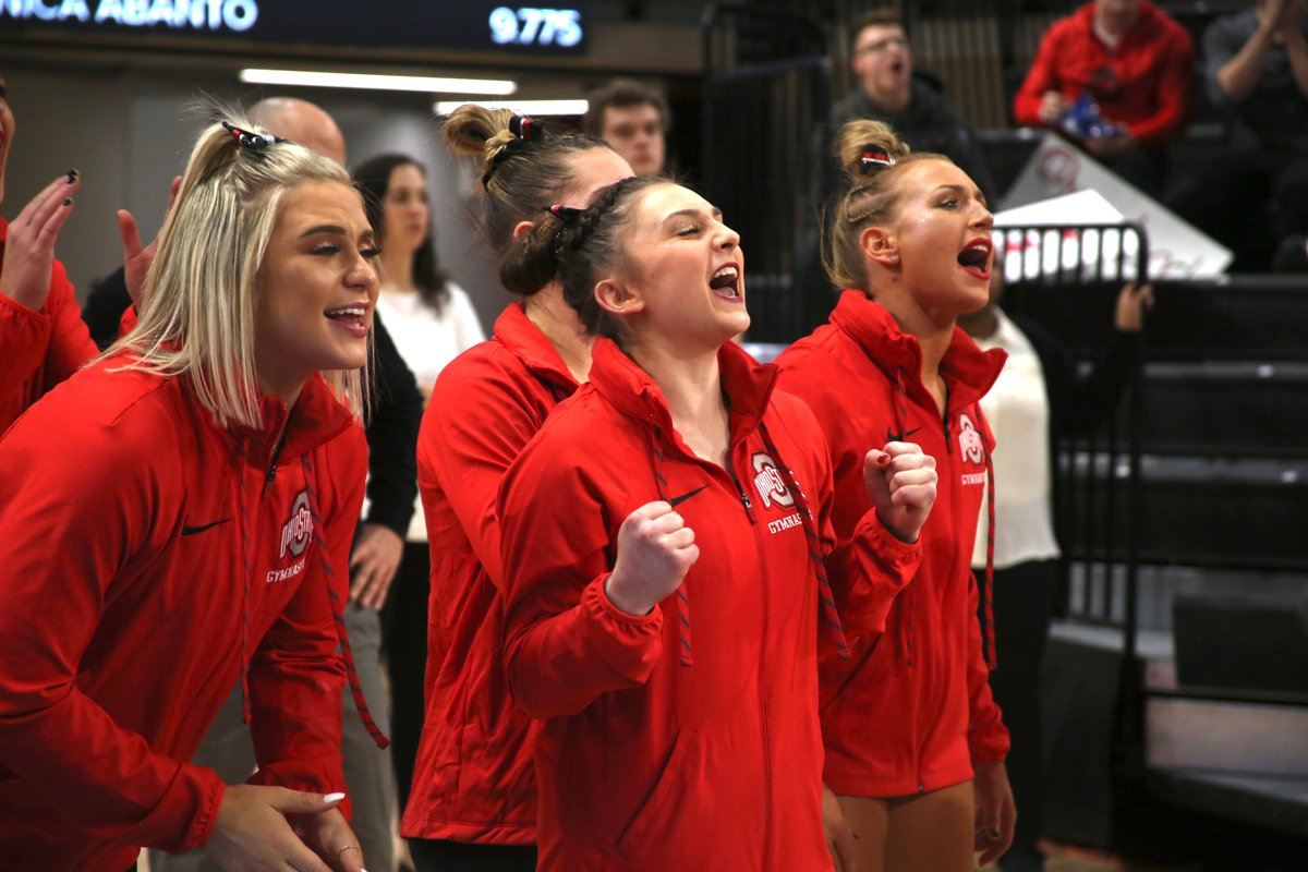 UPSET ALERT   Ohio State takes down No. 11 Maryland and No. 23 Central Michigan to win its first tri-meet of the season!   #TogetherWeRise #GoBucks <br>http://pic.twitter.com/fjJanyUX0E