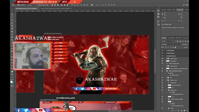 "🔴 Live ON! ""[PT-EN] Hoje eu tô enDeMôNiAdO! 👿 #layout #design"" (🔗) @share_stream @TwitchTVGaming @TwitchSharing @help_streamers #stream #Twitch #GG #SupportSmallStreamers"