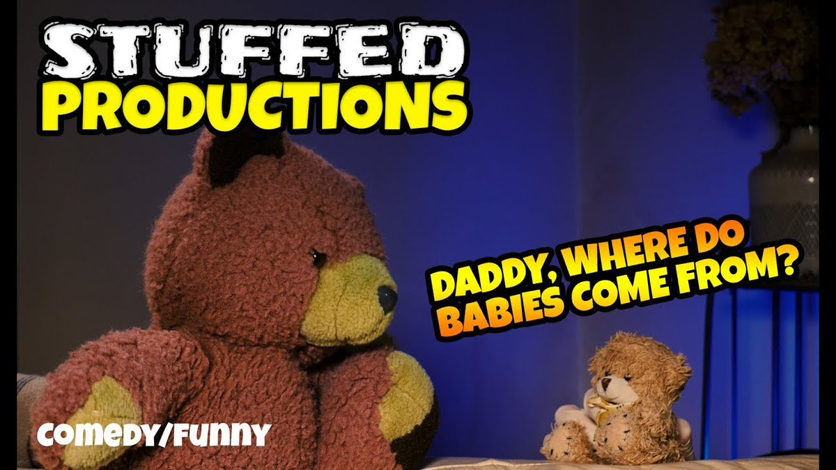 #10 THE BIRDS AND THE BEES - Big Ted + Fred Sketch - Funny Stuffed Animal Videos    #Babies #Bears #Comedy #Cute #FatherandSon #Funny #Kid #Lol #Love #Plush #Plushies #Teddy #TeddyBears #TheBirdsAndTheBees #video
