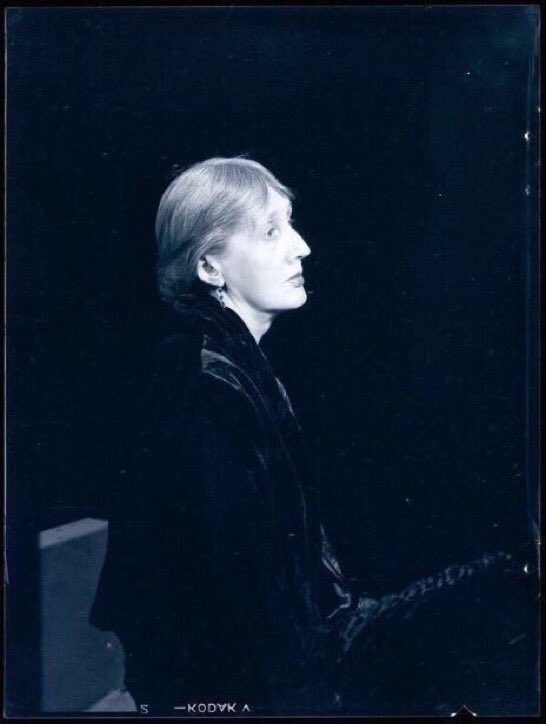 """🔷 VIRGINIA WOOLF  Born on this day, in 1882  """"I desired always to stretch the night and fill it fuller & fuller of dreams.""""      ~ Virginia Woolf  📷 Man Ray"""