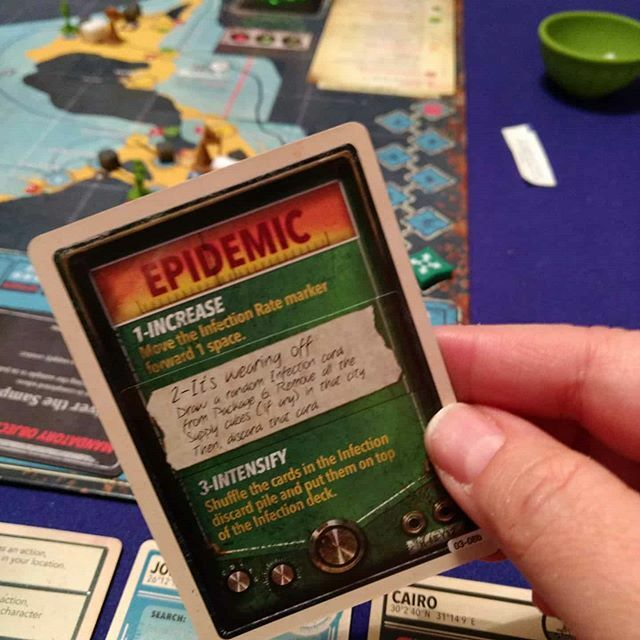 This game is starting well.... #pandemicgame #pandemiclegacyseason2 #boardgamegeek #boardgamesofinstagram #bgg https://ift.tt/2TVT2j7 pic.twitter.com/9RaKgGgBv3