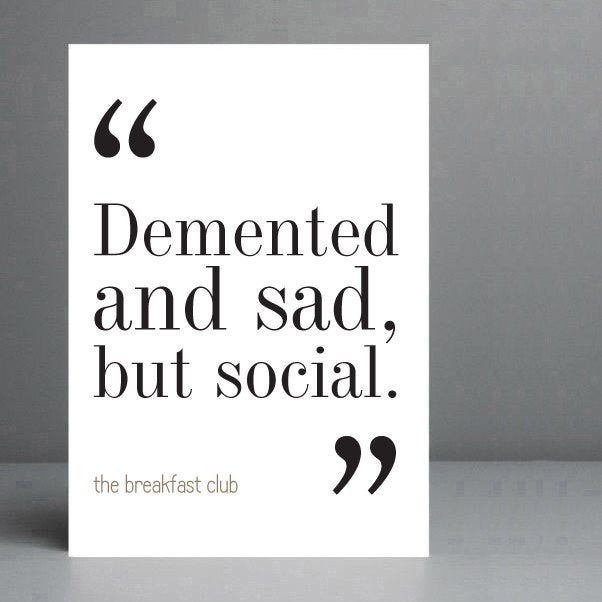 The Breakfast Club Movie Quote. Typography - Wall Art - Print. 8x10 on A4 Archival Matte Paper.  https:// etsy.me/38CsdEM      #ChristmasGifts <br>http://pic.twitter.com/rL8GRk7ZTF