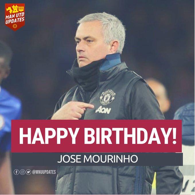 Happy 57th birthday to United s former boss Jose Mourinho.