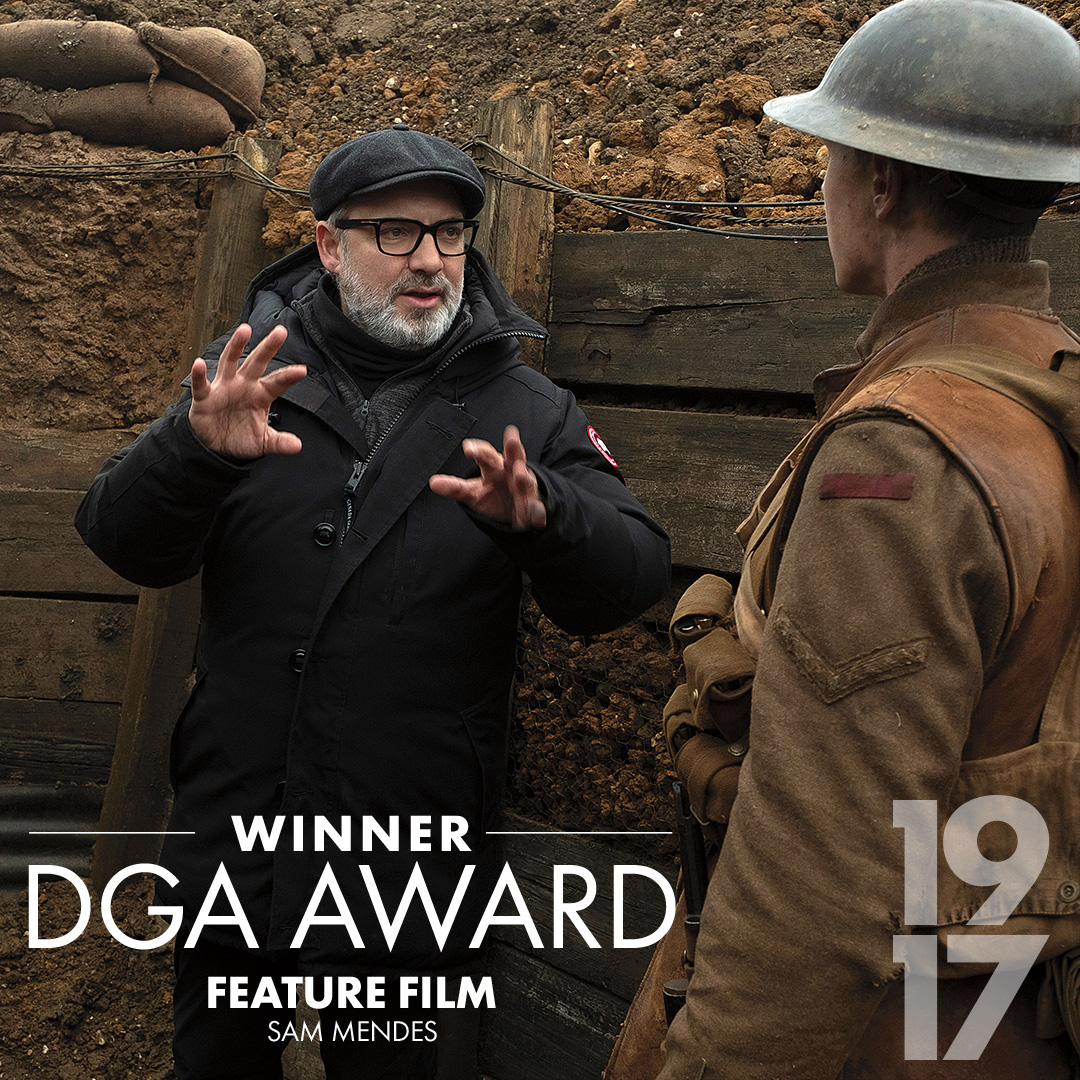 Congratulations to Sam Mendes on his #DGAAwards win. #1917Movie