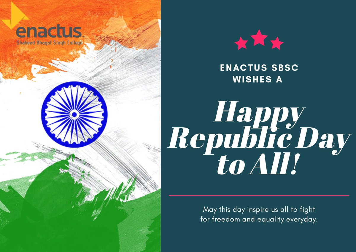 A thousand salutes to the great nation of ours. May it become even more prosperous. Wishing all a very Happy Republic Day!  #HappyRepublicDay2020  #WeAllWin #EnactusSBSCpic.twitter.com/9WrgbDCpT1