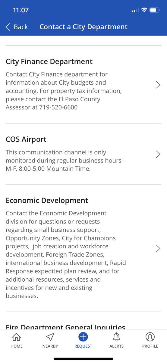 The new @CityofCOS GoCOS! app lets you make requests and find important information you need. You can now also get in touch with our #economicdevelopment dept for your business needs - including questions on our 8 local #OpportunityZones! #localgov @the_jay_CO