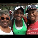 Image for the Tweet beginning: Tennis sensation @CocoGauff's grandmother has