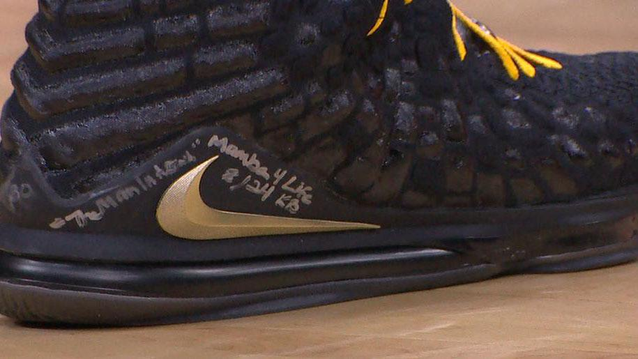 Photo: Look At What LeBron Wrote On His Shoes Last Night