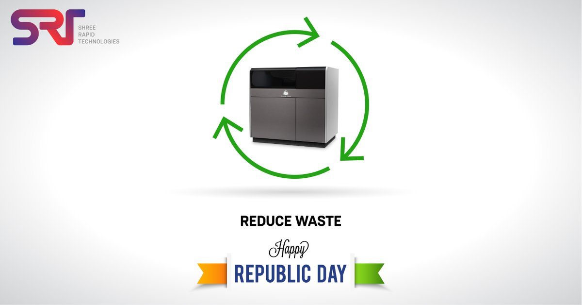This Republic Day, let`s pledge for a sustainable manufacturing and a better future with 3d printing.    #3dPrinting #RepublicDay #additivemanufacturing #metalpic.twitter.com/6YFDYwmz5B