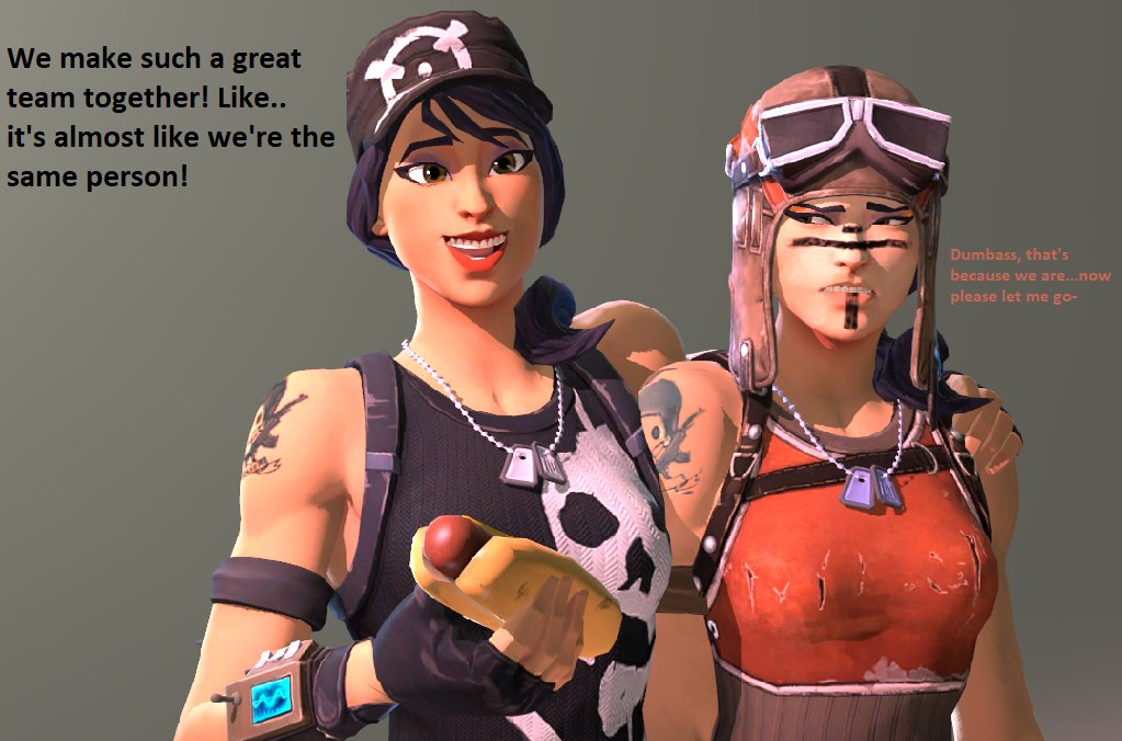 Friends!....I think- (I just love Survival Specialist and Renegade Raider so much.) <br>http://pic.twitter.com/QZ57kNYlBo