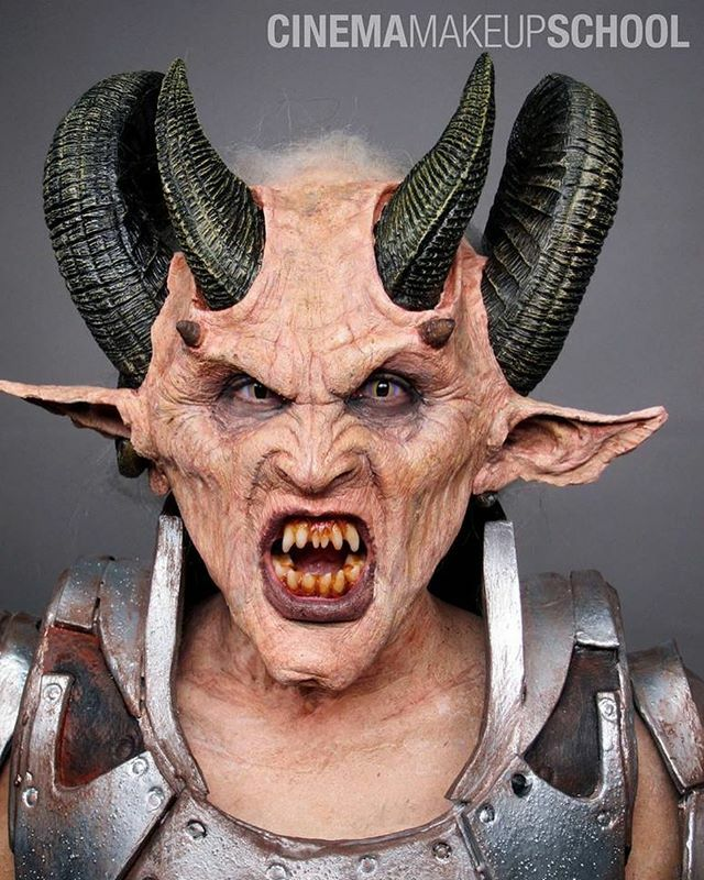 Demon 👹 Designed, sculpted, painted and applied by graduate Luis Vega (@luisvega_fx) on Yuviarlette Ferrer 🔥 || #sfxmakeup #specialmakeupeffects #cinemamakeupschool https://t.co/IHPkzhy28h https://t.co/wnp0FICspb