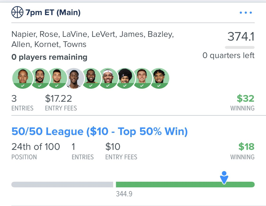 @RotoRadar looks like @JoeSarvadi picked up where @RotoRadarCEO left off by cashing easy today!! His article/advice also helped me cash in the late single gamer... also F You Howard! #RotoRadarNBApic.twitter.com/vpgMlqjBXN