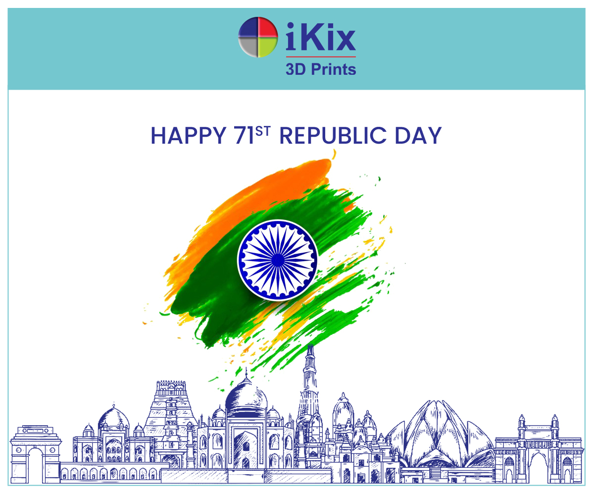 iKix team wishes you all a happy 71st Republic Day  Let's grow together, to make a promising future.  #RepublicDay2020  #iKix3Dprints #architecturalmodelmakers #additivemanufacturing #3Dprinting #saluterealherospic.twitter.com/FoXlV6CYCE
