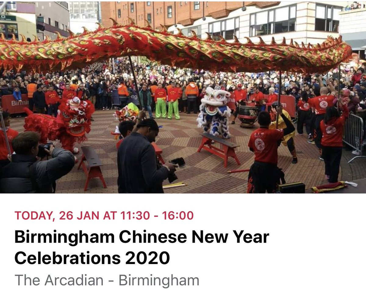 If you stayed in Birmingham last night after the #WhatTheyDidntTeachMeOnMyPGCE book launch party, there's a brilliant Chinese New Year parade taking place today pic.twitter.com/0splbmtcC1