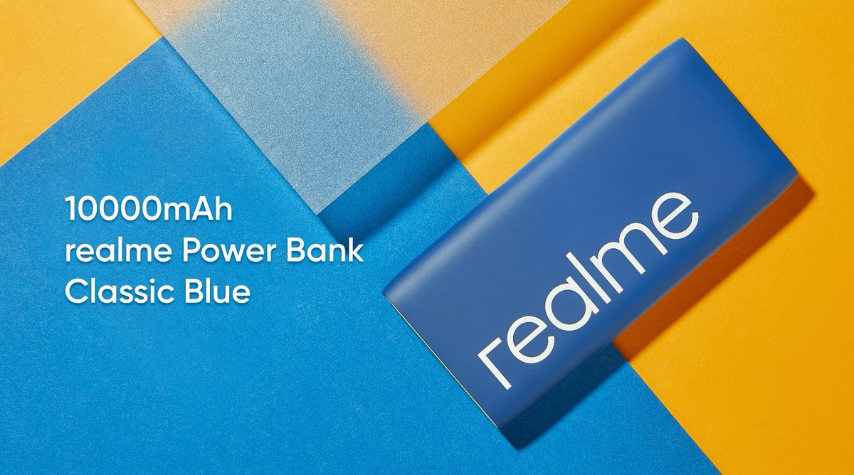 We have the new #realme Classic Blue limited edition #realmePowerBank with all the powerful features: - 10000 mAh - 18W Two-way quick charge - USB-A/USB-C Dual Output Sale is live on realme.com