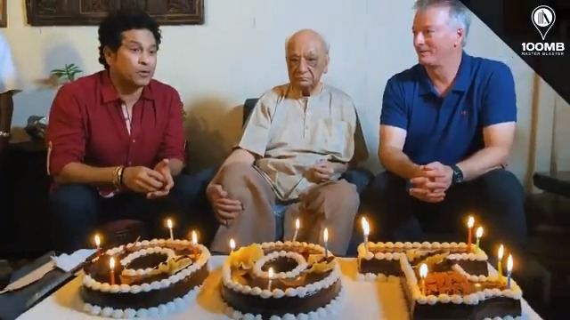 Wishing you a very special 1⃣0⃣0⃣th birthday, Shri Vasant Raiji. Steve & I had a wonderful time listening to some amazing cricket 🏏 stories about the past. Thank you for passing on a treasure trove of memories about our beloved sport.