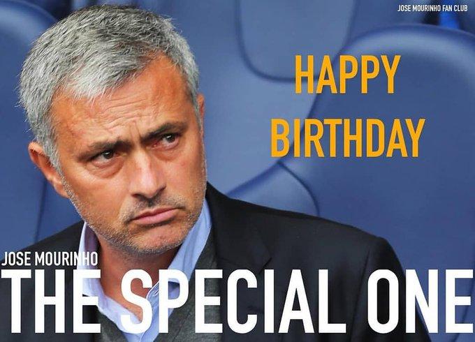 Happy Birthday to my N°1 coach José Mourinho .... I celebrate you THE SPECIAL ONE.