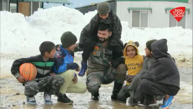 Indian Army celebrated 71st Republic Day with the people living in areas along the Line of Control in Jammu and Kashmir.#ReporterDiary (@ashraf_wani)More Videos: http://bit.ly/IndiaTodaySocial …