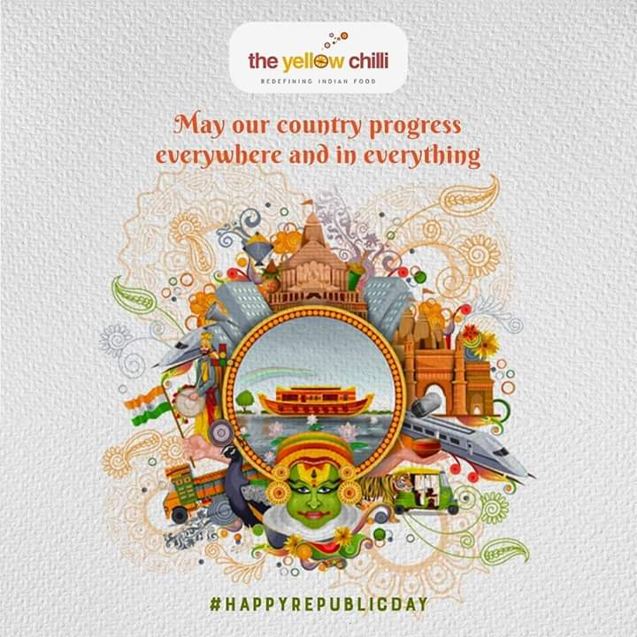 The Yellow Chilli wishes you a very happy #RepublicDay! Dine authentic Indian delicacies at the foodcourt at #LuLuMall #Kochi.  #TheYellowChillipic.twitter.com/5w6UMPs3lj