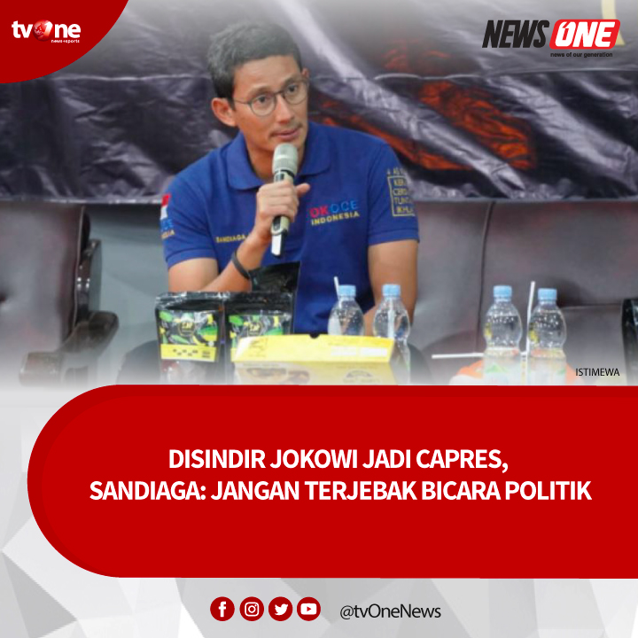 Wakil Ketua Dewan Pembina Gerindra, Sandiaga Uno menanggapi pernyataan Jokowi soal menjadi Capres pada pemilu 2024. Ia menyebut pernyataan itu hanya sebagai cara untuk 'merangkul'. Selengkapnya klik http://bit.ly/3aN4YtM#tvOneNews #NewsOne #vivanews #SandiagaUno #Jokowidodo