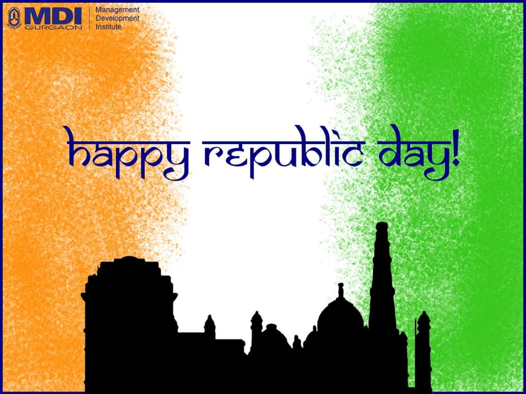 MDI Gurgaon wishes everyone a very Happy Republic Day!  #MDIGurgaon #MDICelebrates #RepublicDay2020 #RepublicDayIndia #ProudlyIndian