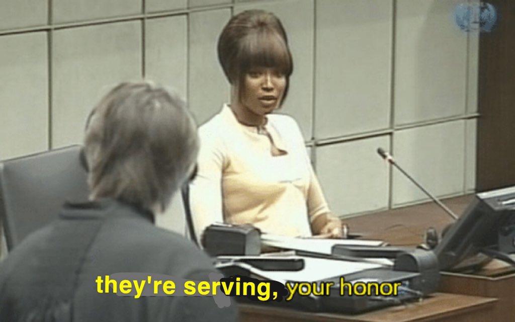 "Sam Stryker on Twitter: ""she's serving your honor… """