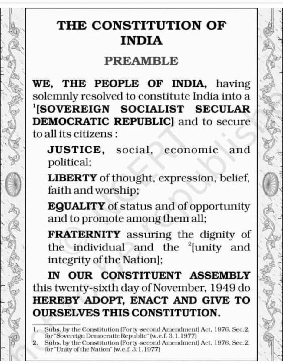 एक बार सोचिए अपनी सामाजिक-आर्थिक पृष्ठभूमि के बारे में और कल्पना कीजिए कैसी होती आपकी जिन्दगी अगर 70 साल पहले ये बेहतरीन संविधान देश में लागू नही हुआ होता।आपको भी अहसास होगा कि कितना जरूरी है आज हमारे संविधान के मूल्यों को बचाने के लिए अपनी आवाज बुलन्द करना😊#HappyRepublicDay2020