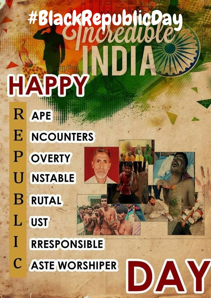 #BlackRepublicDay A Senior Hurriyat leader said that on one hand India celebrated its Republic Day on 26th January, Fresh deployment of at least a million of its military and para military troops in Indian-occupied Jammu Kashmir. pic.twitter.com/CLHhNIh82A