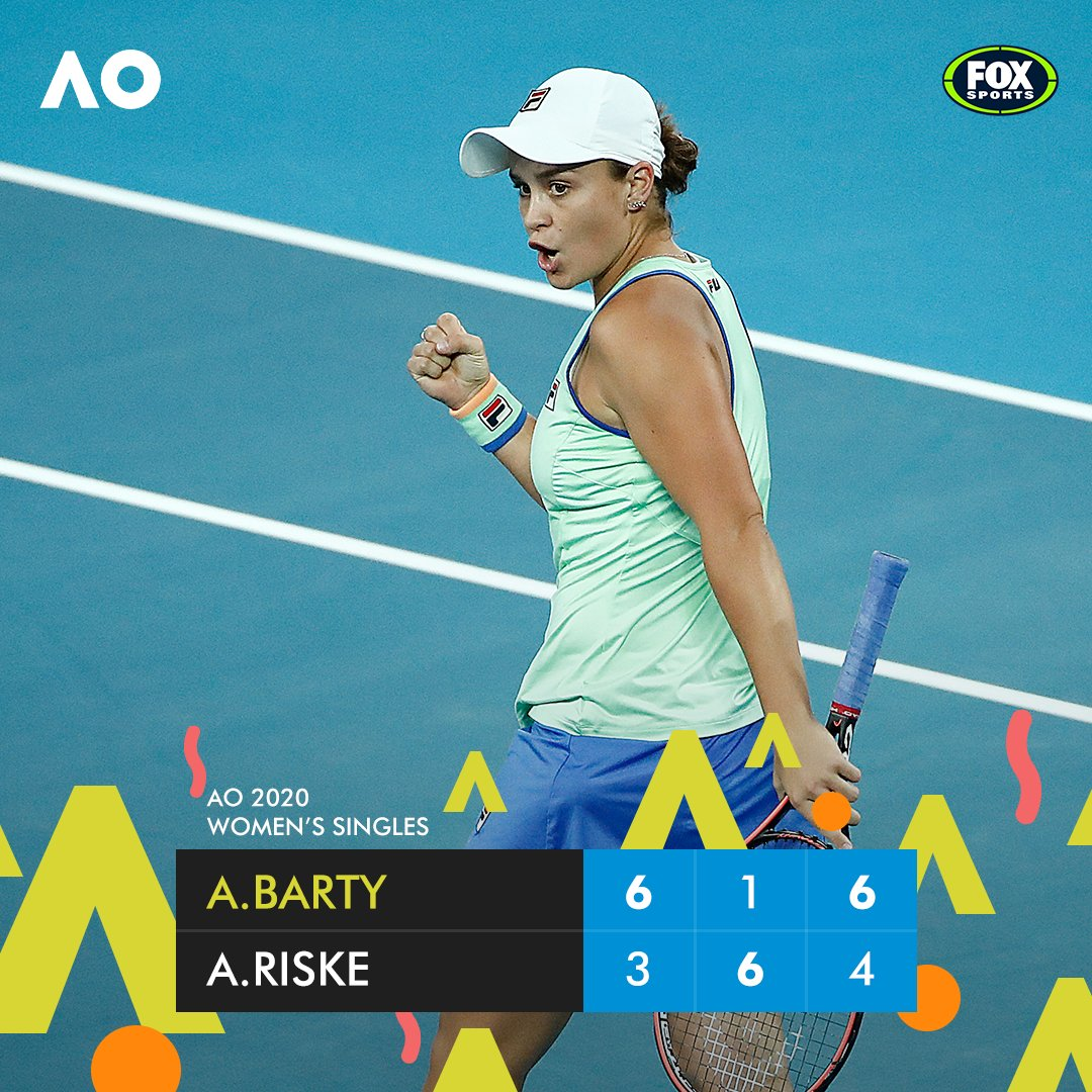 Aaaand... BREATHE!  Ash Barty is through to the quarter-finals of the #AusOpen - and she snapped a 32-year Aussie drought in the process.  More here: https://bit.ly/2viOIjDpic.twitter.com/c4nAAYxi7j