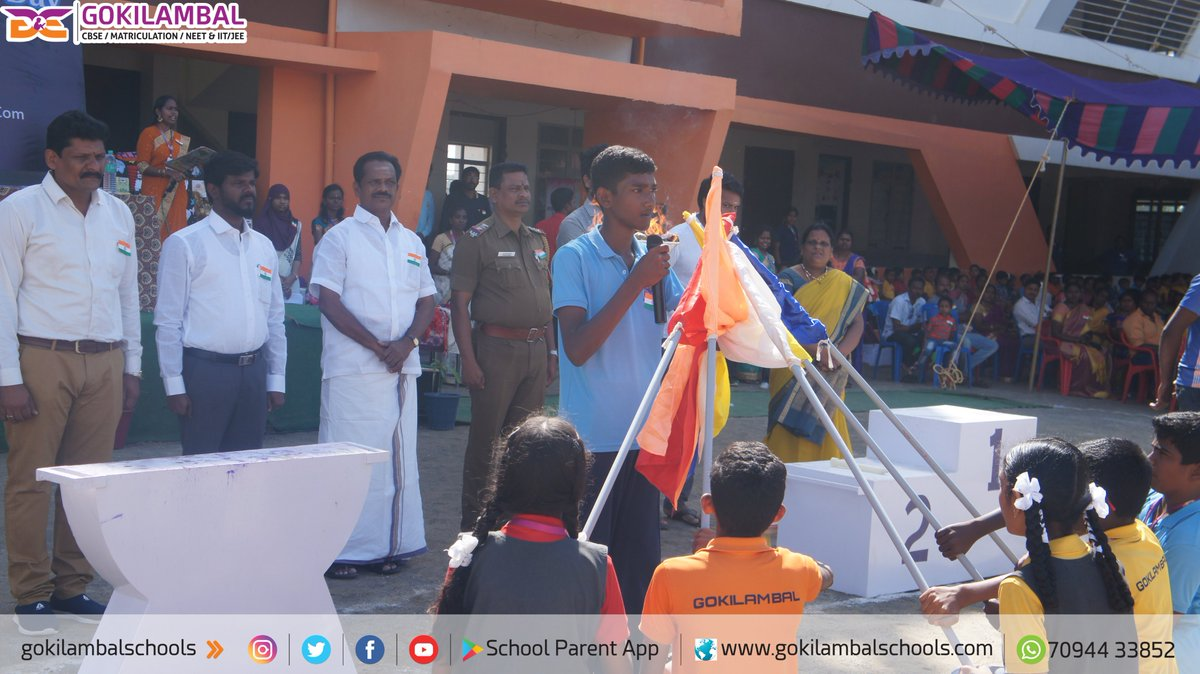 GGS: 2020 Sports Fiesta & 71st Republic Day Celebration in Gokilambal Groups of Institutions Its for your visual display as a glance for the glorious Celebration. pic.twitter.com/IkZCz3D3E8