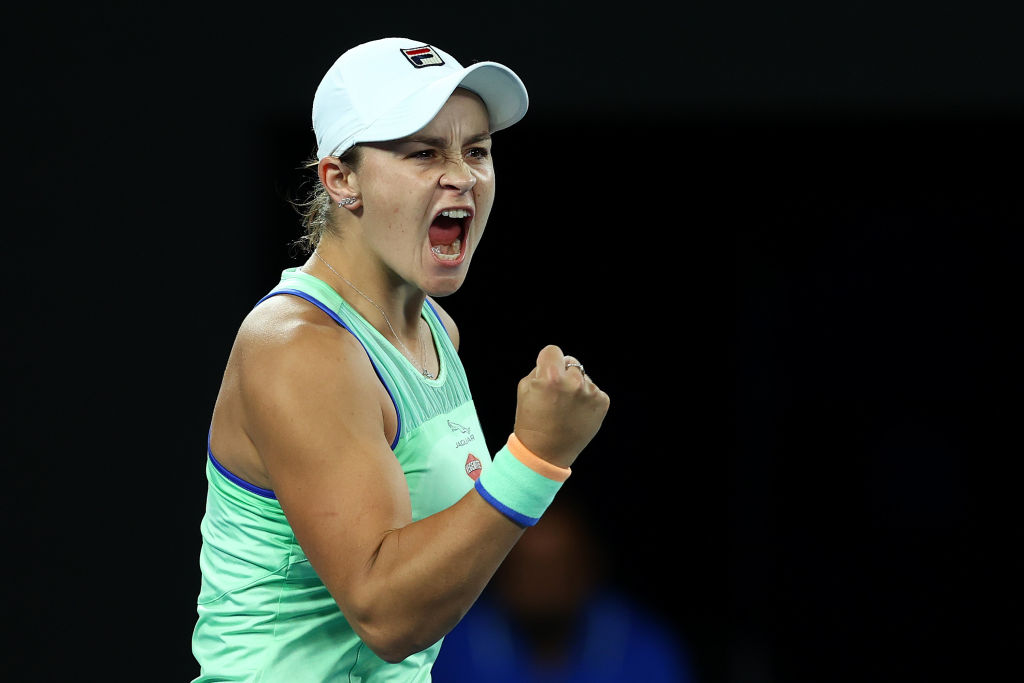 """""""It's just exciting that I get another opportunity in the quarterfinal of a Grand Slam. You don't get those every week.""""   Ash Barty, delighted to return to the business end of her home major, following her 96-minute victory over Riske.    #GoAussies #AusOpen #A02020pic.twitter.com/j2LTIgGI7a"""