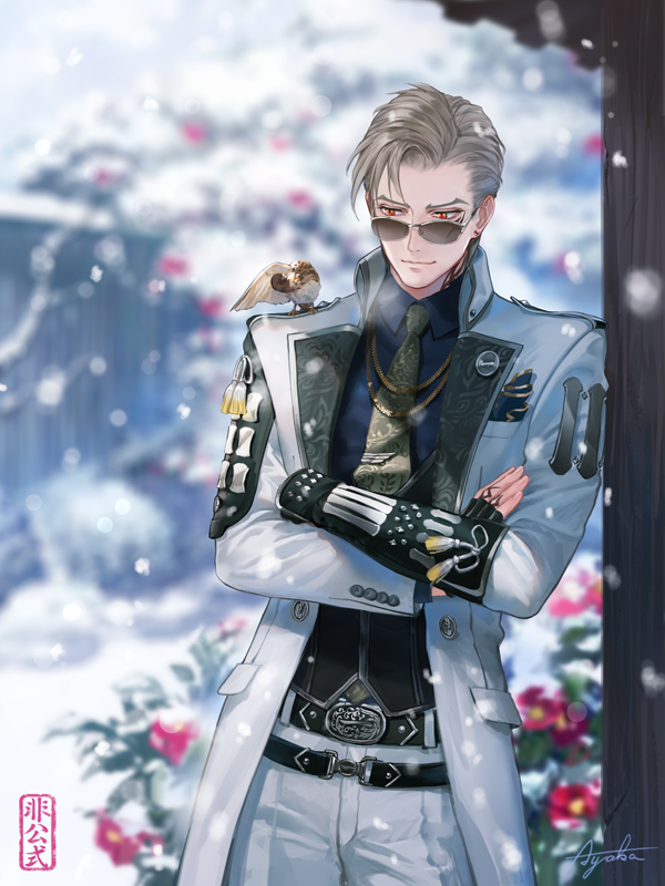 雪の中の山鳥毛さん ※非公式