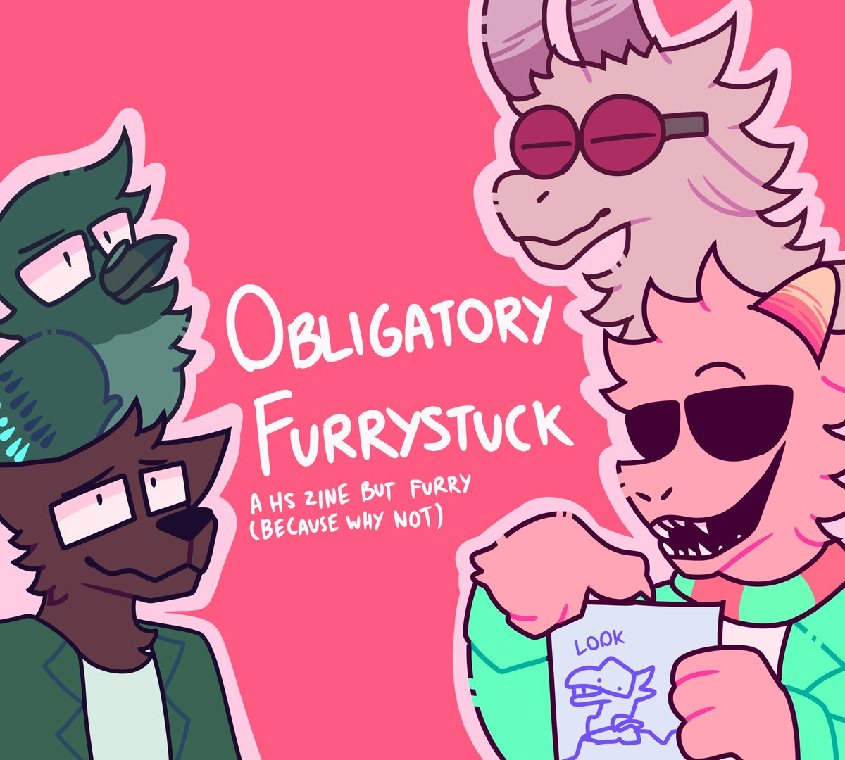 Obligatory Furrystuck is a Homestuck/Hiveswap zine about, well, furries! Artists, writers and cosplayers are all welcome! Applications open soon <br>http://pic.twitter.com/W7xWn7dtoY