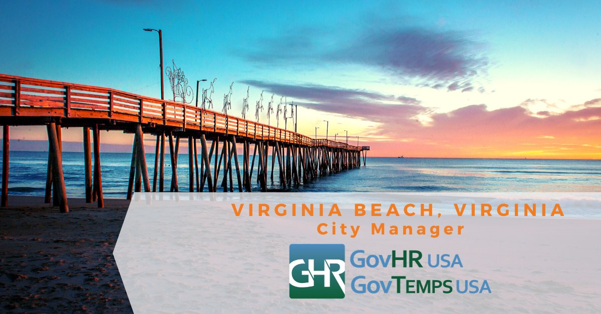 Virginia Beach, VA - City Manager. Apply Now at  @GovHRUSA @CityofVaBeach #VirginiaBeachjobs #CityManager #VirginiaBeachVA #localgov #govjobs #govhr