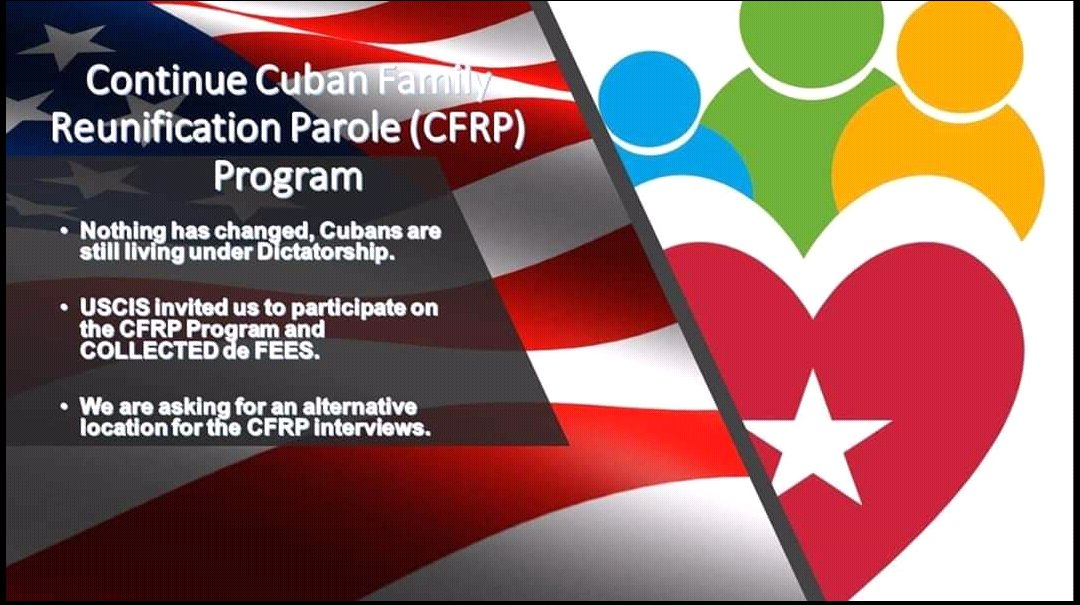 Nothing has changed about cuban regime Our families continue living in a dictatorship Please continue Cuban Family Reunification Program #CFRP and resume consular services in @USEmbCuba @StateDept @statedeptspox @USCIS @HomelandKen #ContinueCubanCFRP #FamiliesBelongTogether