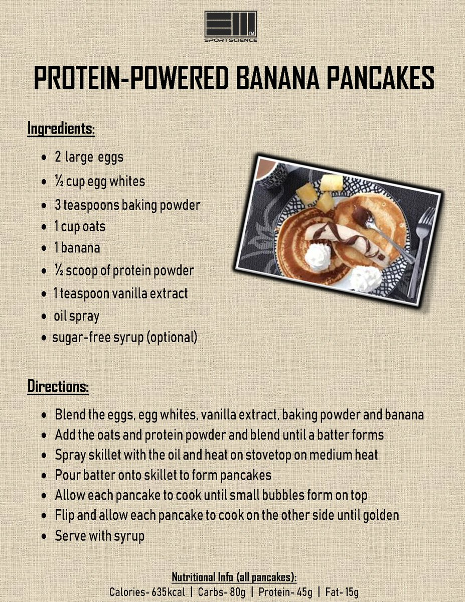 Protein-powered banana pancakes recipe:  Join our nutritional consultation service: http://em-sportscience.com/join  #pancakes #simplecooking #recipeoftheday #simplerecipes #newrecipe #highprotein #cleaneat #proteinfood  #diet #calories #fitnessmodel #fitnessjourney #fitnessgirl pic.twitter.com/fAEe6LUICJ