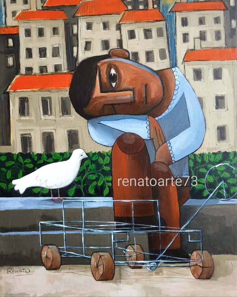 "@renatoarte73 ""The boy,the dove and the wire toy"" Acrylic on canvas #boy #children #toy #dove #peace #expressionism #paloma #contemporaryart #curator #kunst #konst #kunstwerk #art #artist #artoftheday #artofvisuals #arte #artistsoninstagram #artwork #artgallery #artsy #artcurator pic.twitter.com/uvyjnhQSE3"