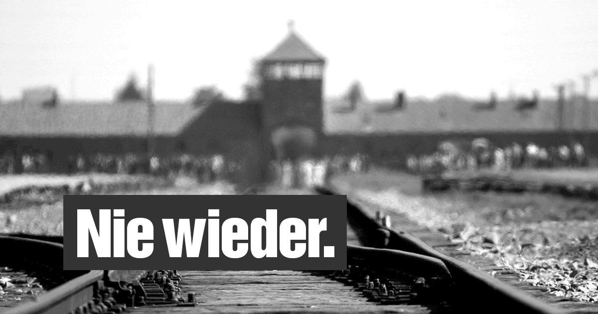 #NieWieder