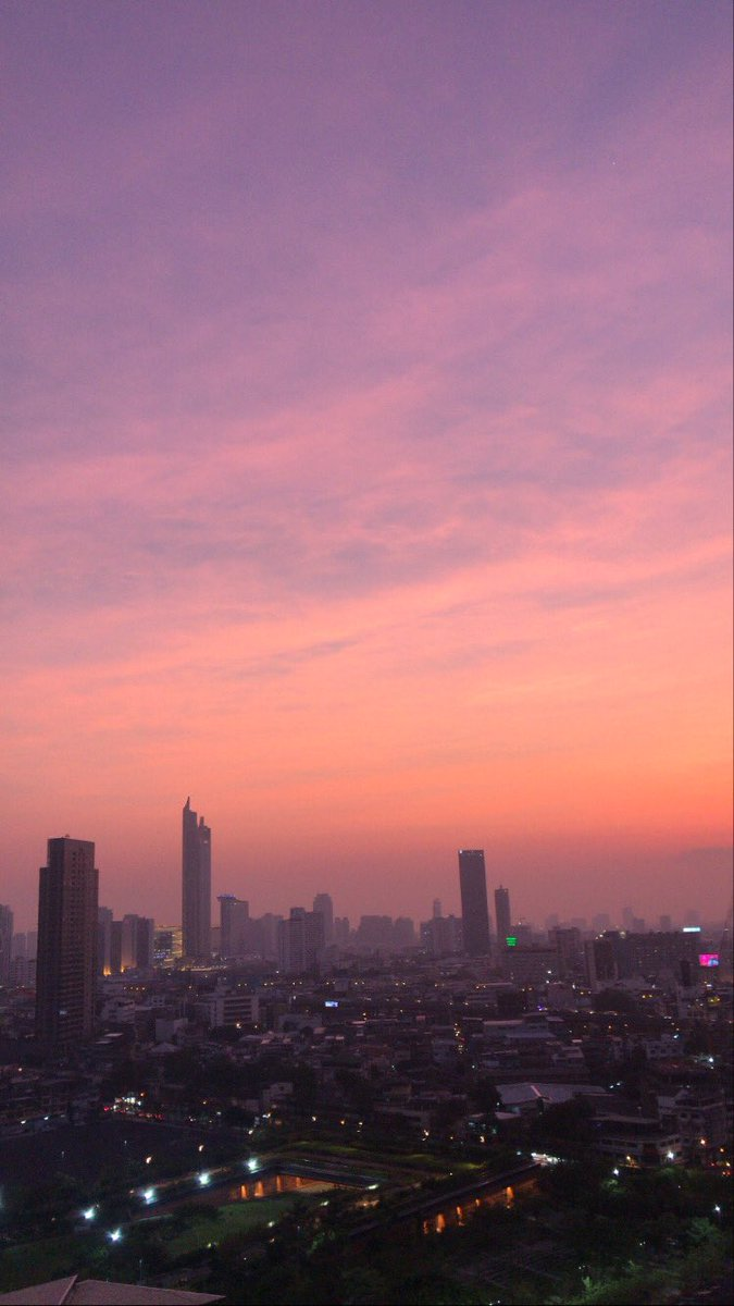 i swear the sunsets in bangkok is on another level #nofilter #skies