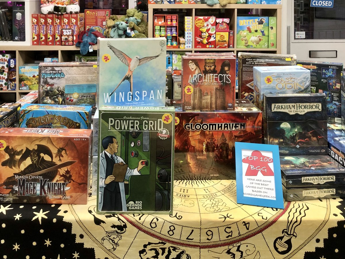 Looking for a new game to try? Why not pop down & have a gander at our new #BoardGameGeek Top 100 table?  You'll find some of the best games around on it - perfect for #gamenight!   We're open now until 6pm!  #Durham #FLGS #boardgames #Top100 #BGG #tabletopgaming #tabletopgamespic.twitter.com/pML6fcynd4