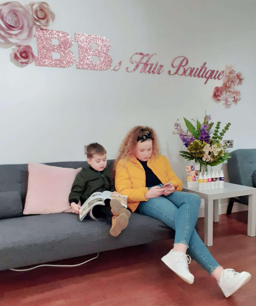 The kids waiting for mum to finish sorting her business out ❤️ my family @BBsHairBoutiqu1 #bbshairboutique #BeverleyEastYorkshire #Hairdressers #Beauty #familystyle #familybusiness #Sisterinlaw #supportlocalbusnisses