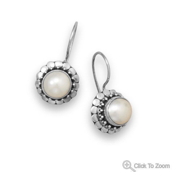 Pearl Earrings, Cultured Freshwater Pearl Earrings with Dot Edge Design, Handcrafted, Girlfriend, Wife, Anniversary, Birthday, Wedding http://tuppu.net/2378f65f  #jewelrymandave #Etsy #DotEdgeDesignpic.twitter.com/4qSROK7s9t