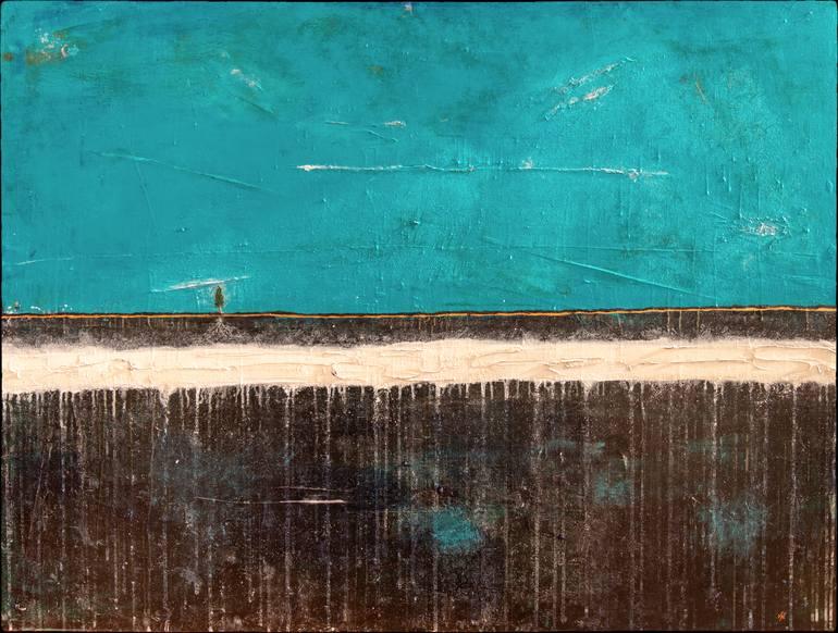 #ArtworkOfTheDay. Marcus Jake | 'Lone Tree' | Acrylic and Ink on Canvas | 36 H x 48 W | $3205 | https://bit.ly/3amov3F | #TheOtherArtFairLDNpic.twitter.com/Wa7M8LshKc