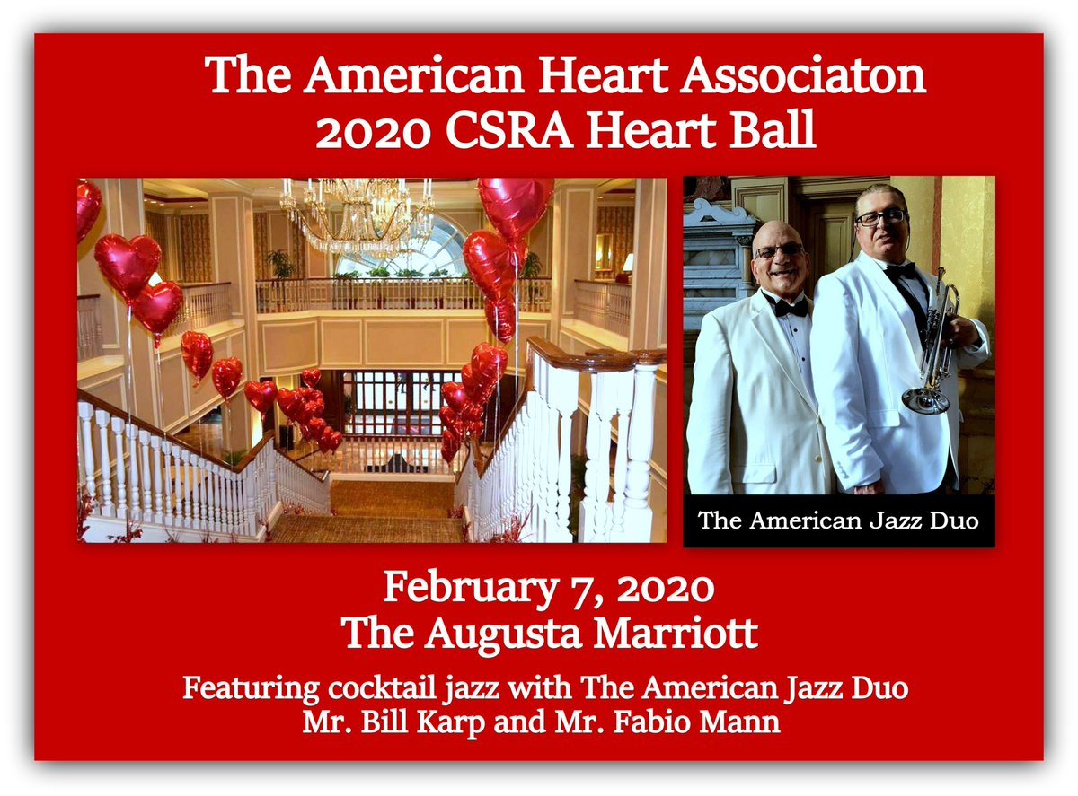 Coming up in 2 weeks, The CSRA Heart Ball. Tickets here: https://ahacolumbiasc.ejoinme.org/MyEvents/20192020CSRAHeartBall/tabid/1068517/Default.aspx…pic.twitter.com/vytc4Q6tse