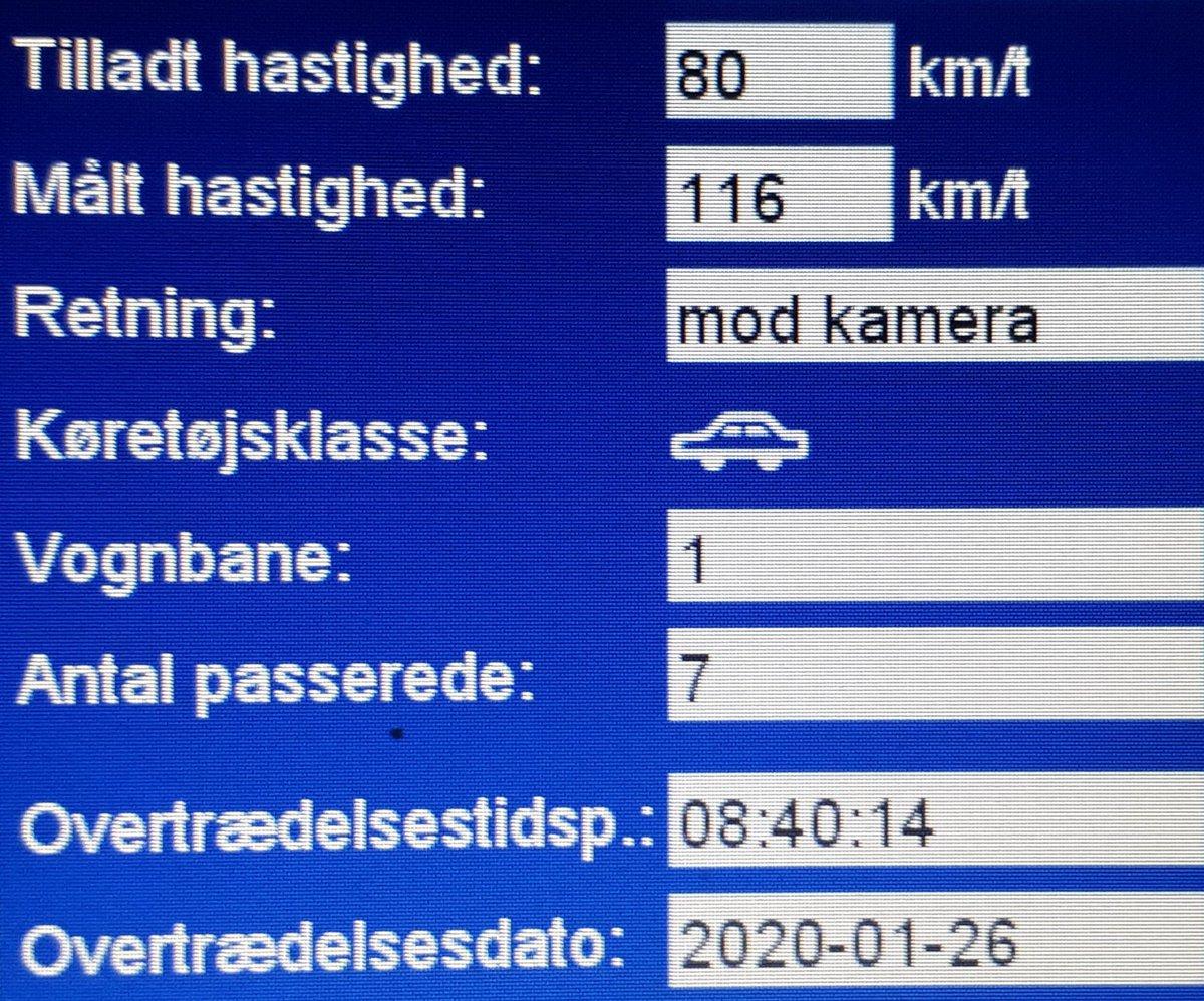 Fotovognen har været på Lunderskovvej i Vejen kommune som er vores fokusstrækningn. her vil måle oftere end andre steder. 12 blev blitzet deraf 2 klip, hvor de kørte henholdsvis 112 km/t og 116 km/t. Sænk farten så alle kommer sikkert frem #atkdk #politidk https://t.co/TOfGZshwqL