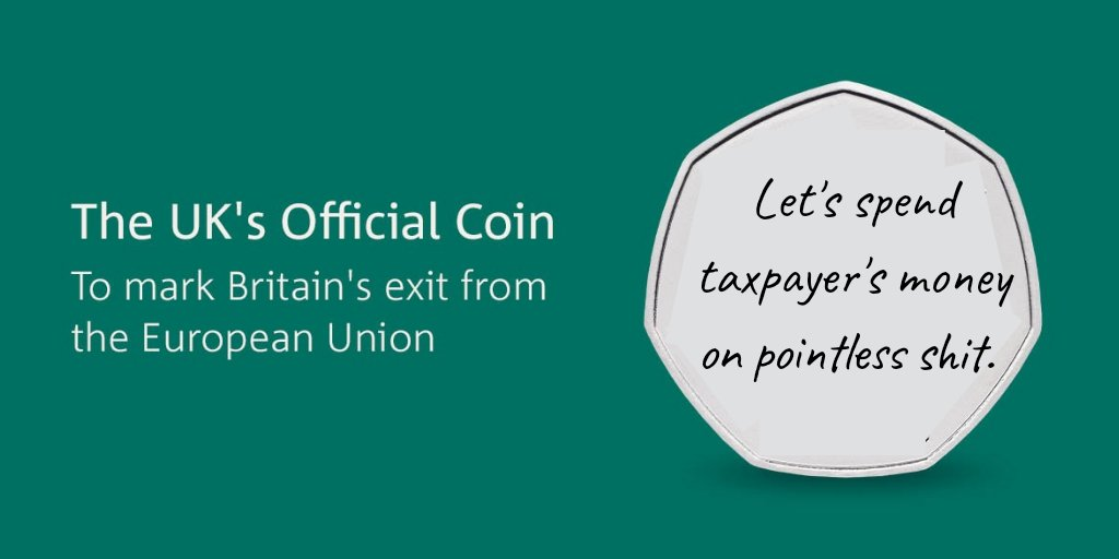 Really great coin to celebrate the UK's exit of the EU.  Fantastic message on the coin. Great stuff  #brexitcoin<br>http://pic.twitter.com/hPWpOk4ZwF