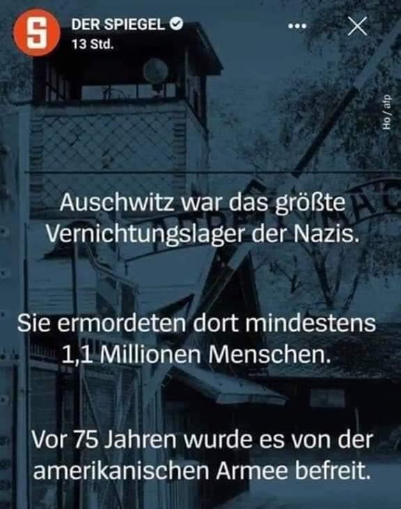 Немецкий Der Spiegel приписал армии США освобождение Освенцима