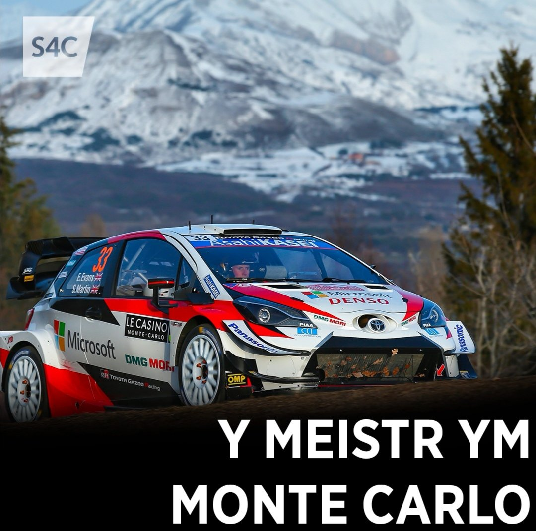 3ydd i @ElfynEvans a 4 cymal cyflymaf yn ei rali 1af gydai dîm newydd ym Monte Carlo! Campus! 👌 4 stage wins and 3rd overall for Elfyn Evans in his first #RallyeMonteCarlo with @TGR_WRC! 👌 @OfficialWRC #WRC