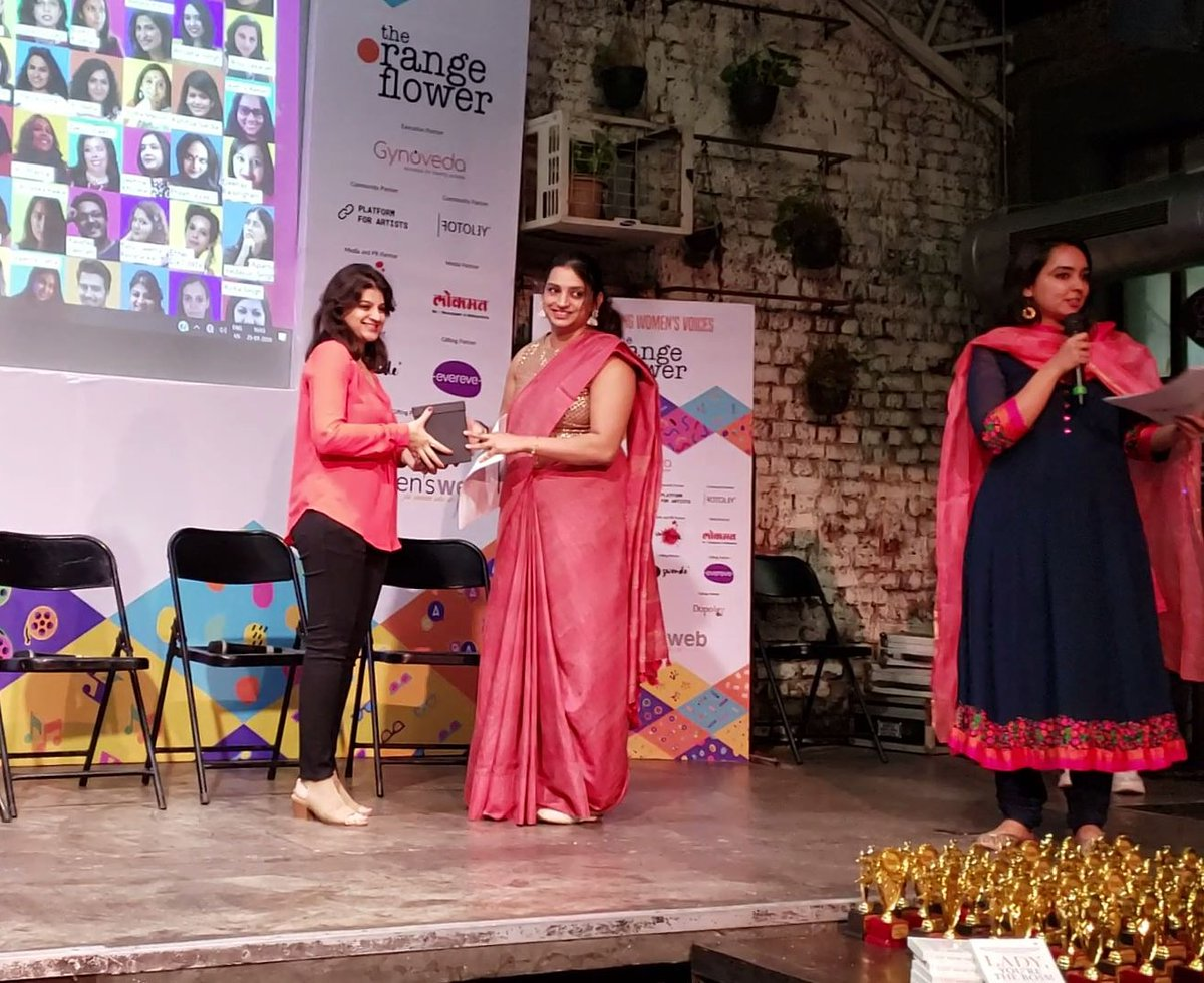 Thank you, @womensweb for the lovely felicitation for the Art Konnect workshop I curated for the #orangeflowerfestival in Mumbai!  #art #artist #womensfestival #artfestival #artcurator #artworkshop #WomenSupportingWomen #empoweringwomen #artactivity #collaborativeart #groupartpic.twitter.com/DGcbEKXkrq